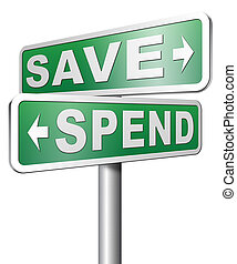Saving plan bank deposit spend or save money