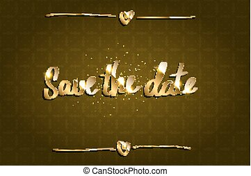 Save Our Date Invitation Template with Hand Drawn Texts. ...
