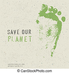 Save our planet poster. Vector, EPS10