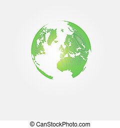 Save planet abstract concept design