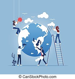Save planet-environment protection concept