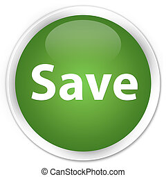 Save premium soft green round button