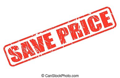 Save price red stamp text