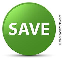 Save soft green round button