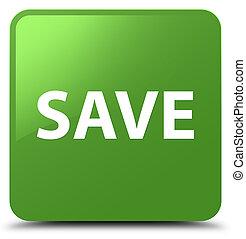 Save soft green square button