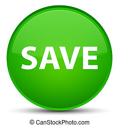 Save special green round button