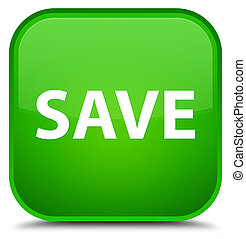 Save special green square button