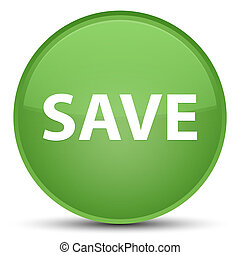 Save special soft green round button