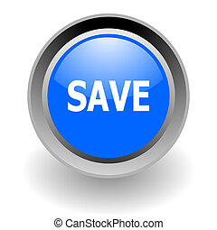 save steel glosssy icon