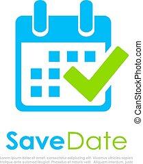 Save the date, calendar vector logo