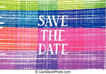 Save the date card. For web and mobile icon isolated on...