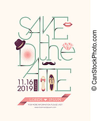 Save the date card typography