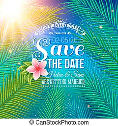 Save the Date Concept with Nature Style - Attractive Save...