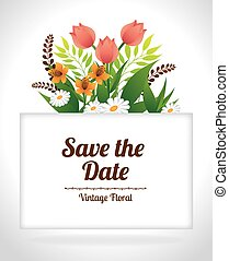 Save the date design.