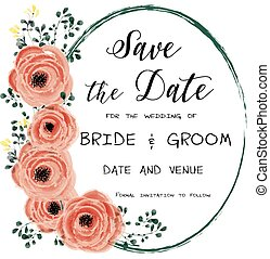 Save the Date Editable