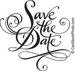 Save the Date - Vector version of my own calligraphy
