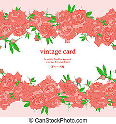 Save the Date Floral Card.