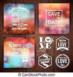 Save the date for personal holiday cards. Wedding invitation...