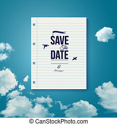 Save the date for personal holiday. Wedding or engagement...