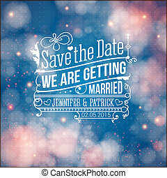 Save the date for personal holiday. Wedding invitation. ...