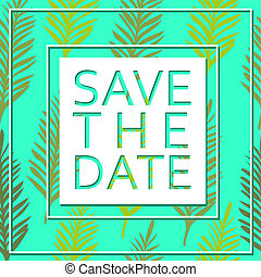 Save the date for personal holiday. Wedding invitation. Vector image