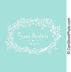 Save the date. Invitation card