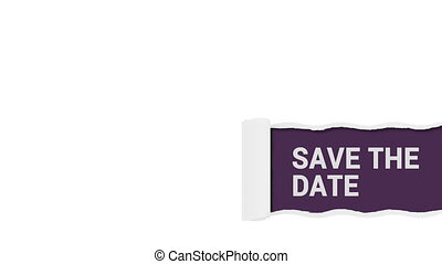 Save the date lower 3rd sign shot clip