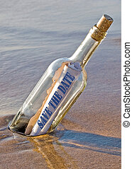 Save the Date message - Save the date message in a bottle...