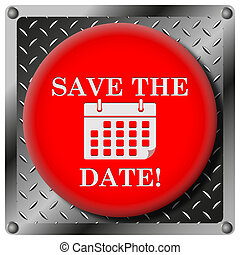 Save the date metallic icon