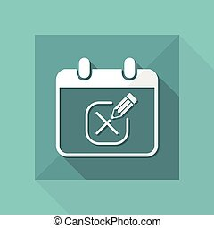 Save the date - Minimal vector icon