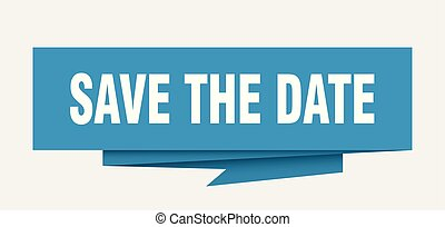 save the date sign. save the date paper origami speech ...