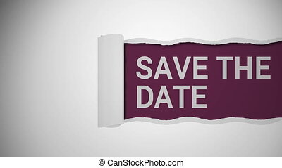 Save the date sign shot clip