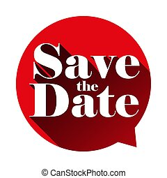Save the Date sign speech bubble vector