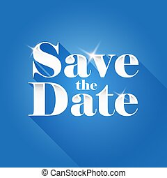 Save the Date sign vector