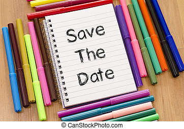 Save the date text concept