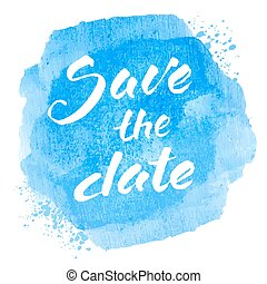 Save the date text - Vector handwritten calligraphy...