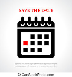 Save the date vector poster