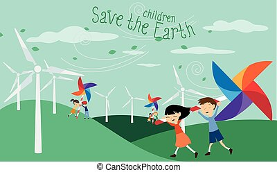 Save the Earth - Green energy for c