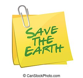 save the earth post illustration design