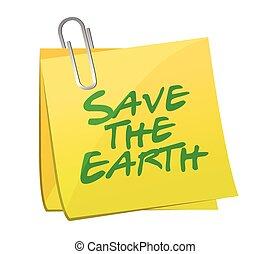save the earth post illustration design