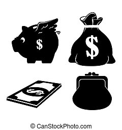 save the money theme design icon