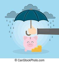 Save the piggy bank.