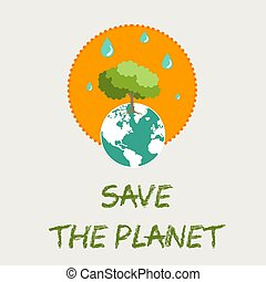 Save The Planet Earth Card