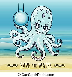 Save the Water Illustration