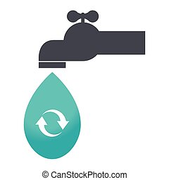 save the water tap icon