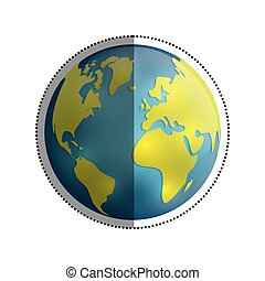 ... Save The World Icon Vector Illustration Graphic Design