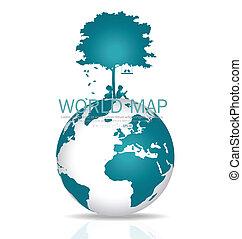 Save the world. Vector illustration