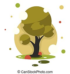 Save the world with ecology and environment conservation concept.Green forest wildlife with nature background layers paper art style.Vector illustration.