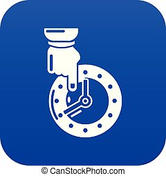 Save time icon blue vector