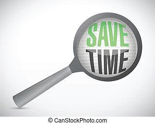 save time magnify review illustration design